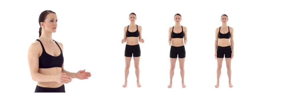 Armen zijwaarts oefening bij een Frozen Shoulder.