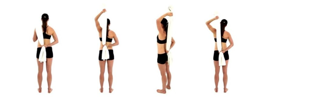 Handige oefening bij een Frozen Shoulder, alleen een handdoek nodig.